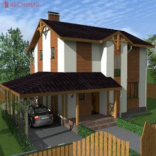 Рабочий проект индивидуального дома (Петропавловская Борщаговка, г. Киев)