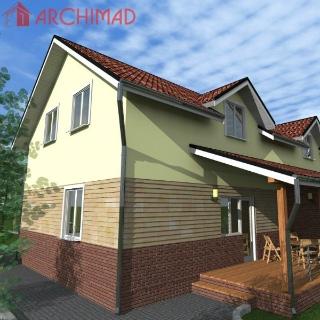 Эскизный проект дома на 2 семьи