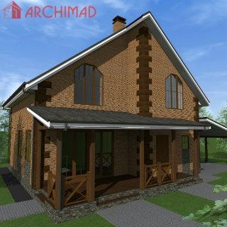 Эскизный проект дома (г.Киев)