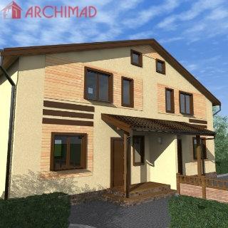 Эскизный проект 2-х этажного дома на несколько семей