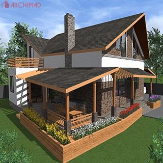 Проект дома неправильной формы (г.Черновцы)