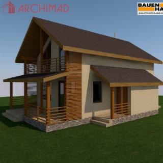 Рабочий проект  дома из сип-панелей (г. Киев)