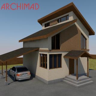 Рабочий проект пассивного дома из сип-панелей (г. Покровск)