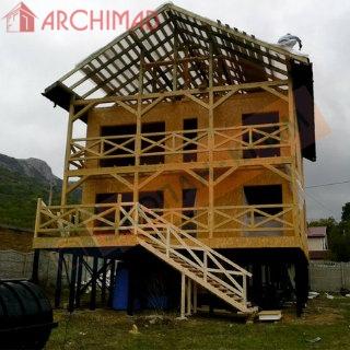 Индивидуальный дом в альпийском стиле