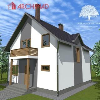 Рабочий проект жилого дома (с. Терновщина)