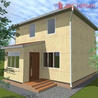 Сборочный чертеж дома из СИП-панелей (Зелёный Бор)