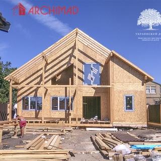 Рабочий проект дома с 2-мя гаражами