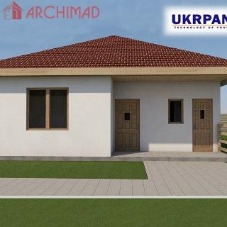 Сборочный чертеж дома из СИП-панелей (г. Днепр)