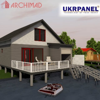 Рабочий проект дома на воде (Укрпанель)
